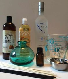 How to Make a Reed Diffuser with Essential Oils -- reed diffusers are easy and inexpensive to make, you can customize them to your decor, they make great gifts, and they're perfect for places where it's not convenient to plug in a diffuser (like bathrooms)