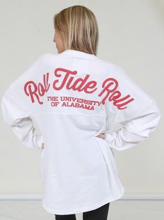 Alabama Spirit jersey white ROLL TIDE ROLL $29.99  @ilusweetie yes yes yes LOVE this. ---medium or large