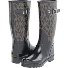 For all the rain that we DONT get... MICHAEL Michael Kors MK Logo Rain Boot $99.00