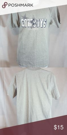 """Dallas cowboys NFL football gray medium t shirt Real good condition.  Measures 21 1/2"""" across chest and 29 1/2"""" long from top mid shoulder to bottom hem Shirts Tees - Short Sleeve"""