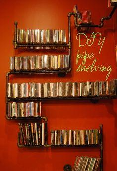 DIY Piping Media Shelf| The Ball & Daisy Chain