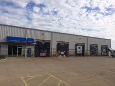 A great picture of our shop after all of our bay decals and awnings were installed!