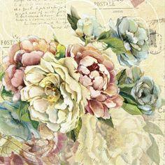 Scented Letter II Canvas Wall Art by Carol Robinson Decoupage Vintage, Vintage Diy, Vintage Ephemera, Vintage Colors, Vintage Cards, Vintage Paper, Vintage Flowers, Vintage Postcards, Vintage Images