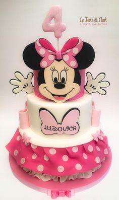 Minnie mouse cake...both sides! - Cake by Rita Cannova