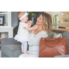 Brownstone Oemi Baby Leather Diaper Bag