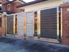 Looking for Gate designs Delux Structural Works Stainless Steel Gate, Steel Gate Design, Automatic Gate, Skylight, Garage Doors, Outdoor Decor, Integrity, Gates, Gallery