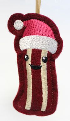 Christmas Bacon (Stuffed) | Urban Threads: Unique and Awesome Embroidery Designs