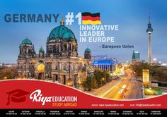 Abroad Education in Germany - Germany is the No.1 Innovative Leader in Europe!!!!! the best place to study.Students who wish to study in Germany get in touch with Riya Education.  #business #master #bachelor #foreign #schengen #kochi #cochin #kerala #india #consultant