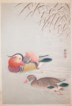 Shoson  Title:Two Mandarin Ducks