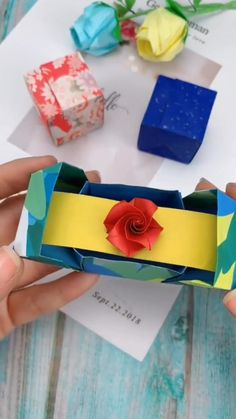 Origami Flowers Discover DIY Paper Ring Box How to make a paper ring box - steps by steps Diy Crafts Hacks, Diy Crafts For Gifts, Diy Arts And Crafts, Diy Crafts Videos, Creative Crafts, Origami Ring, Instruções Origami, Origami Videos, Origami Jewelry