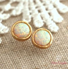 Check out this item in my Etsy shop https://www.etsy.com/listing/204248653/white-opal-earrings-opal-stud-earrings
