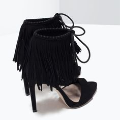 Image 3 of FRINGED HIGH HEEL SANDALS from Zara
