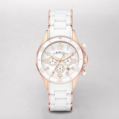 Marc by Marc Jacobs Ladies' Rock Watch In White And Rose