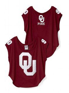 Victoria's Secret PINK University of Oklahoma Drapey Bling Tee #VictoriasSecret http://www.victoriassecret.com/pink/university-of-oklahoma/university-of-oklahoma-drapey-bling-tee-victorias-secret-pink?ProductID=69563=OLS?cm_mmc=pinterest-_-product-_-x-_-x