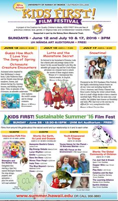 Kids First Film Festival - http://fullofevents.com/hawaii/kids-first-film-festival/