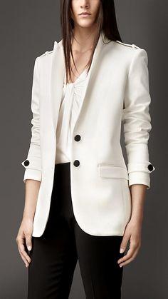 Veste tailleur de coupe droite | Burberry