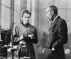Portrait of Marie Curie and Pierre Curie Marie Curie, Science Puns, Chemistry Jokes, Life Science, Physics Jokes, Science Cartoons, Chemistry Class, Math Jokes, Science Quotes
