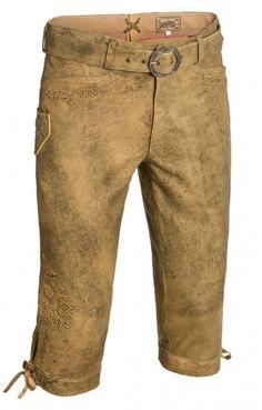 Oktoberfest leather trousers kneelength Sigmar light brown