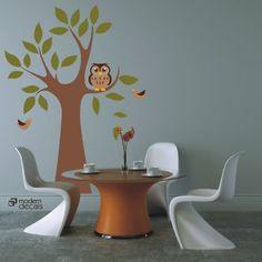 Owl / Nursery / Vinyl Wall Art Decal
