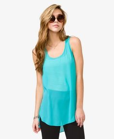 Sleeveless Chiffon Top $10.80 (Forever 21)