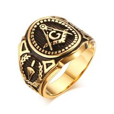 Grab 'em before they sell out! Anillo - Acero Inoxidable - Dorado - Envío Gratis on my Shopify store✨    http://templomasonico.info/products/2016-hot-vintage-316l-stainless-steel-men-ring-gold-free-mason-freemasonry-masonic-male-retro-punk-black-brand-ring-jewelry?utm_campaign=crowdfire&utm_content=crowdfire&utm_medium=social&utm_source=pinterest