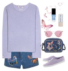 """""""Untitled #325"""" by jovana-p-com ❤ liked on Polyvore featuring Valentino, 81hours, Champion, JINsoon and Oliver Peoples"""