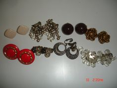 Vintage Clip Earrings Lot of 8 by LillysTreasureChest on Etsy, $10.00