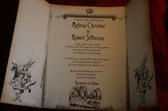 Alice in Wonderland Invitation Wedding Sample  by anistadesigns, $6.00