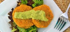SweetPotatoQuinoaCakes.jpg | High Tastes, High Health, Low Guilt: Sweet Potato Quinoa Cakes with Avocado-Lime Dressing