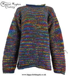 Gringo Dark Green Multicoloured Nepalese Wool Jumper