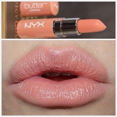 GentleWhispering; NYX Butter Lipstick in Snow Cap