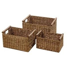 Organise out-the-door essentials on your hallway console or jewellery on your dresser with these woven water hyacinth baskets.