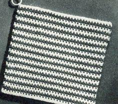 Striped Square II Potholder | Crochet Patterns