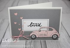 LizDesign Stampin Up Beautiful Ride Valentine's Card