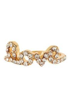 Crystal Love Ring by t+j Designs on @HauteLook
