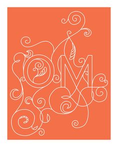 OM Yoga Art Print - 8 x 10 in Coral. Even a better scrolling OM!  :). Love...