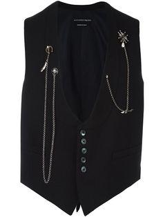 ALEXANDER MCQUEEN chain embellished waistcoat. #alexandermcqueen #cloth #waistcoat