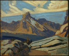 Painting Canada: Tom Thomson and the Group of Seven J. MacDonald Cathedral Mountain, Oil on paperboard, x cm, Gift of Mr. Tom Thomson, Canadian Painters, Canadian Artists, City Landscape, Landscape Paintings, Oil Paintings, Emily Carr Paintings, Group Of Seven Paintings, Jackson