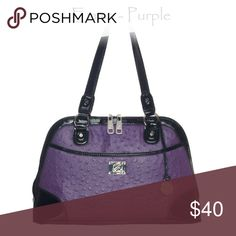 Grace Adele NWT Purple Grace Adele Consultant with too much inventory! Exterior pocket holds a clutch. Grace Adele Bags Shoulder Bags