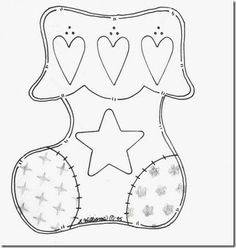 Risultati immagini per moldes patchwork navidad Christmas Projects, Christmas Crafts, Christmas Decorations, Christmas Sock, Christmas Templates, Christmas Printables, Felt Christmas Ornaments, Christmas Stockings, Felt Crafts Patterns