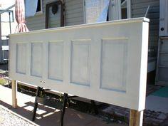 100 Year Old Door Repurposed to Headboard - Easy Peasy!!