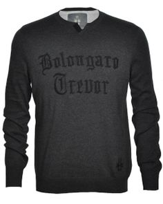 BOLONGARO TREVOR BT Crew is a lightweight knit with embroidered lettering. It features an unusual neck with herringbone tape that twists, our signature T shaped back panels and stepped hem. It includes a hidden inside 'dinner moeny' pocket as well as our hawk embroidery. 100% Cotton