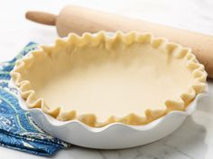 """Vodka Pie Dough recipe from Food Network Kitchen via Food Network..""""Fun fact: Vodka ensures a tender and flaky pie crust every time.""""...""""We use vodka in this pie dough to make it extra flaky and tender. (Don't worry, the booze cooks off and leaves no taste behind.) ~ Food Network"""