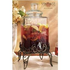 Home Essentials Vintage 2.25 gal. Hammered Dispenser with Iron Stand $39