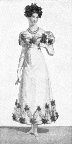 An 1820s ball gown