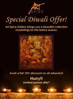 Special Diwali offer !! #Prosperity #wealthy #Celebrations #diwali2018 #festivalseason #festivaloflights #celebrateculture #festival #artspicegallery #artcollective #artenthusiast #artlovers #art #delhi #metropolitan #ganesh Diwali 2018, Ganesh, Celebrations, Seasons, Thoughts, Gallery, Creative, Artwork, Beautiful
