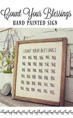 Count your blessings, hand painted sign from Etsy! #ad #affiliate #homedecor #rustic #farmhouse #countyourblessings