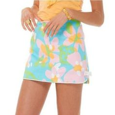 Lilly Pulitzer Cosette Bow Detail Skort in Mojo