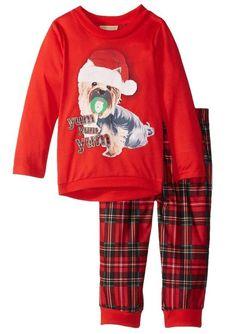 Komar Kids Little Girls' Plaid Holiday Puppy BMJ 2 Piece Set Size 2T #PeasCarrots #TwoPiece