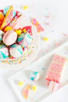 a unicorn strawberry cake recipe   sugar & cloth